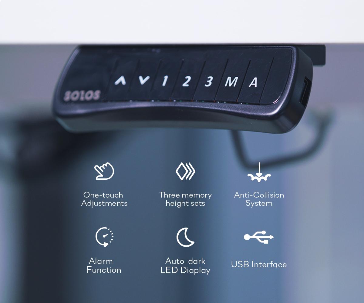 L-shaped Desk's Smart Frame Controller has One USB Port
