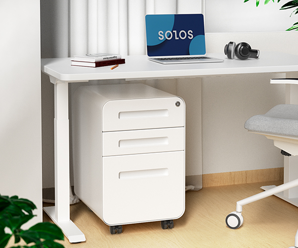 SOLOS File Cabinet Has Firm Construction and Optional Mobility
