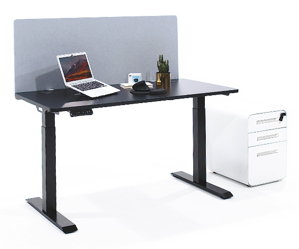 SOLOS File Cabinet fits perfectly under standing desk