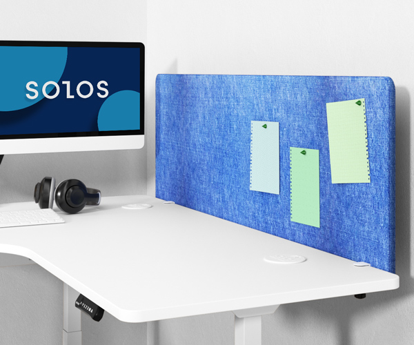 SOLOS acoustic panel increases privacy and eliminates distractions.