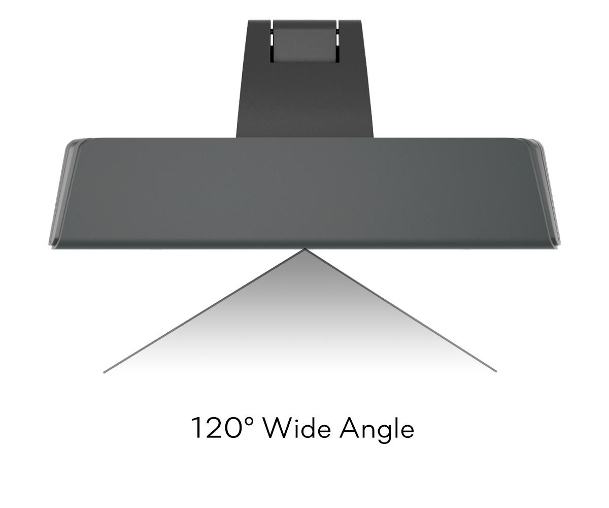The webcam boasts a wide angle of 120°