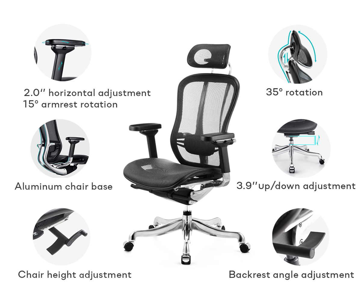 SOLOS Premium Ergonomic Chair Can be Adjustable to Fit your Needs