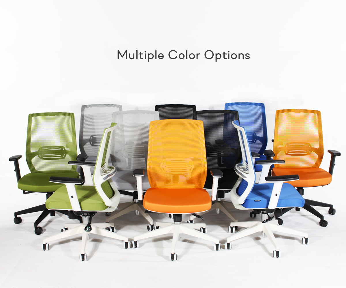 The cost-effective ergonomic chair is among SOLOS multiple types of office chairs.