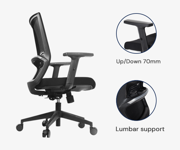 The budget chair is designed for you to work more healthily and comfortably.