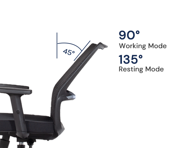 This chair comes with a horizontal mesh design for the entire chair back support to improve the airflow while you seat lean on the chair.