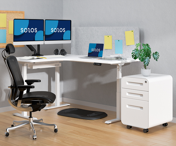Excellent Stability And Extremely Sturdy of L-shaped Standing Desk