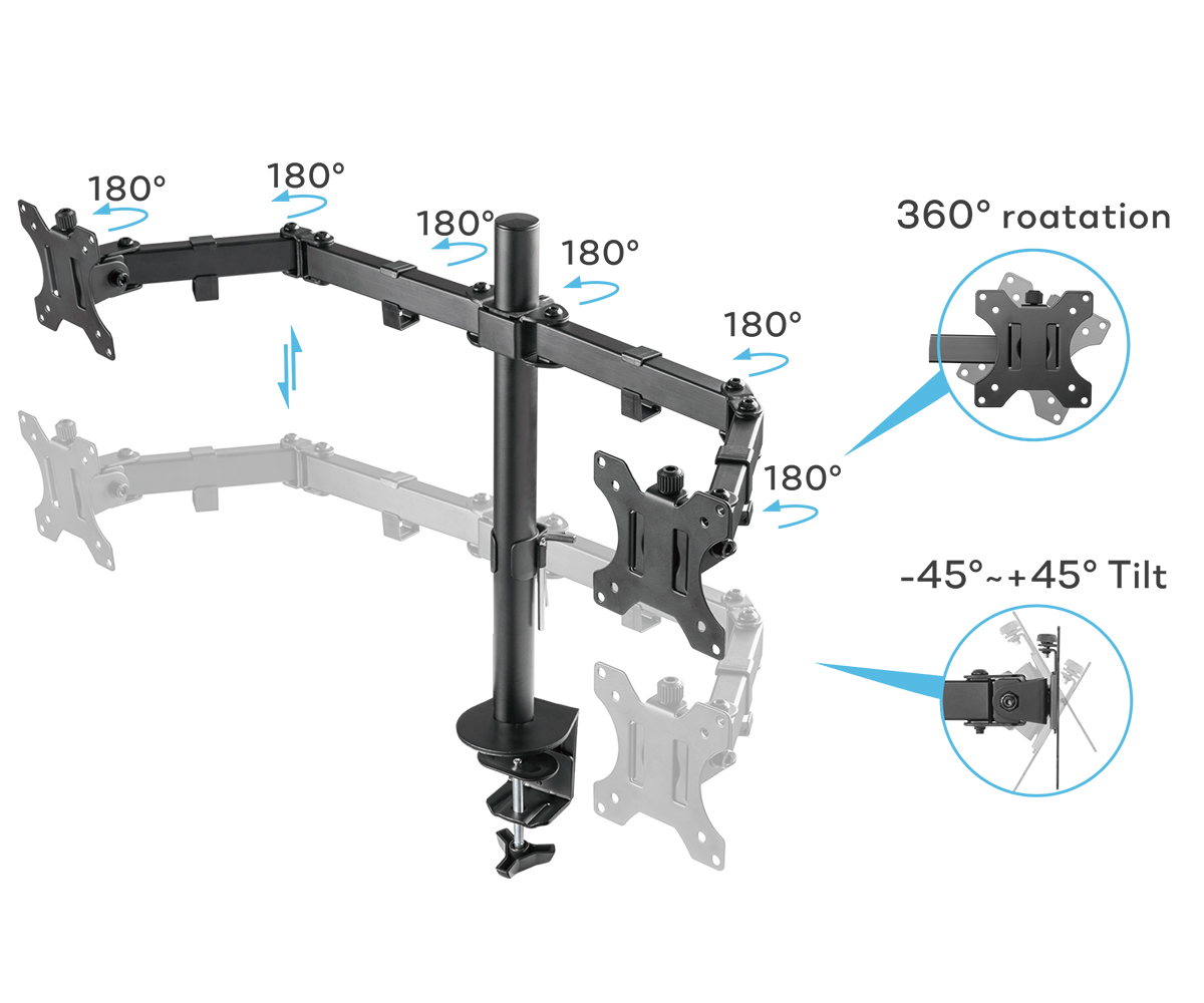 SOLOS Monitor Basic Stand Has A Wide Range of Motion