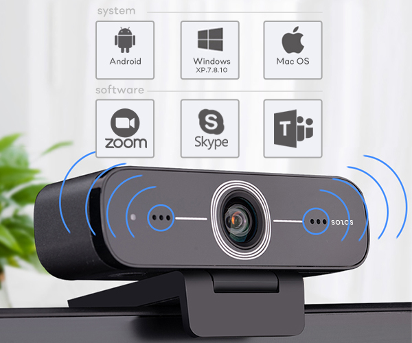 SOLOS USB webcam comes with an improved drive free solution, tested and approved with all major operating systems and video software.