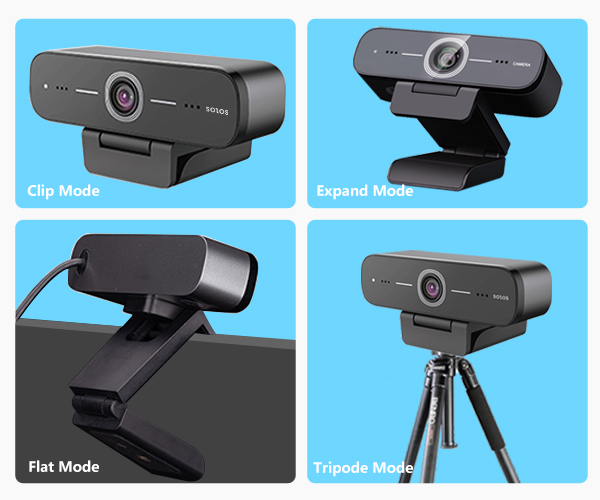 The webcam with a more compatible and modern size, comes with multiple installation options.