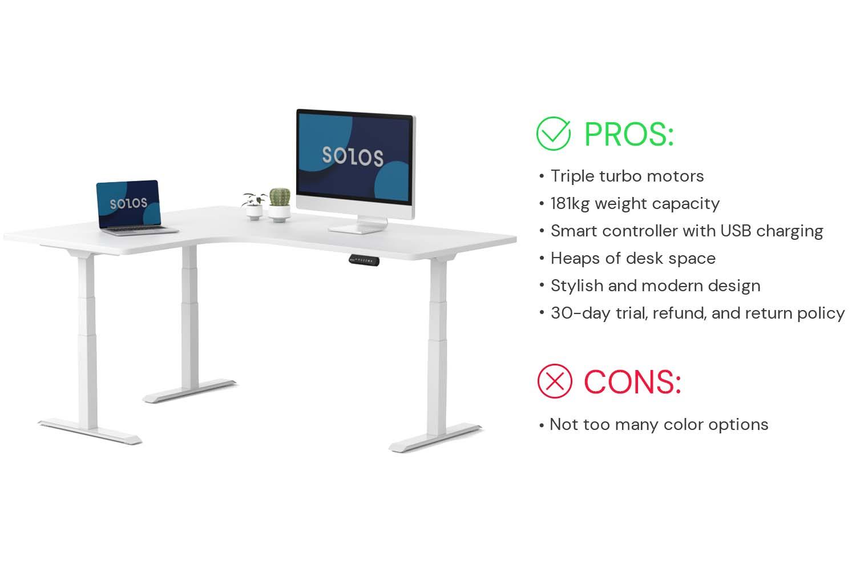 SOLOS L-shaped standing desk