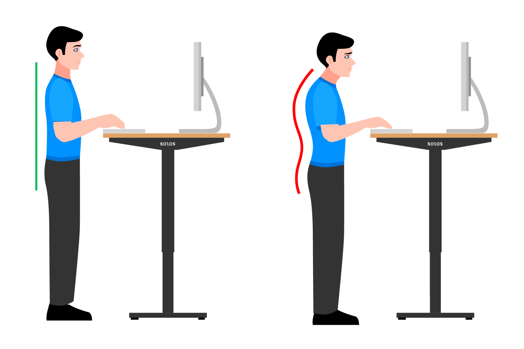 One of the biggest complaints of office workers after sitting at their desks for a long time is bad posture.