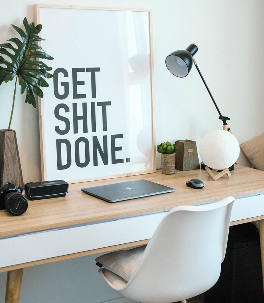 clean workspace