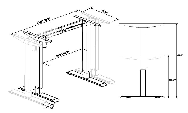 SOLOS basic standing desk frame