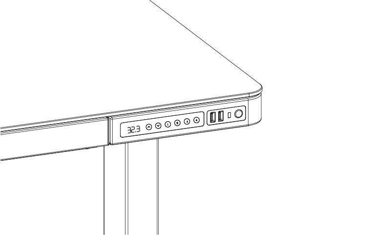 SOLOS Studio Standing Desk Controller