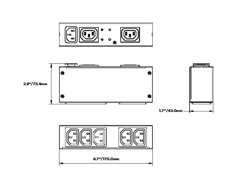 SOLOS Display Mount PDU