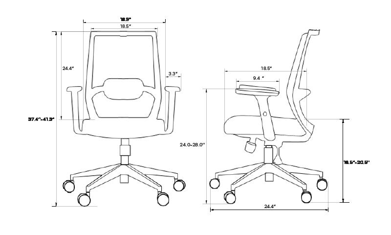SOLOS Fashion Ergonomic Chair